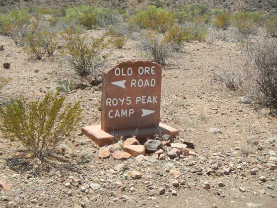 Roy's Peak Camp Entrance Marker
