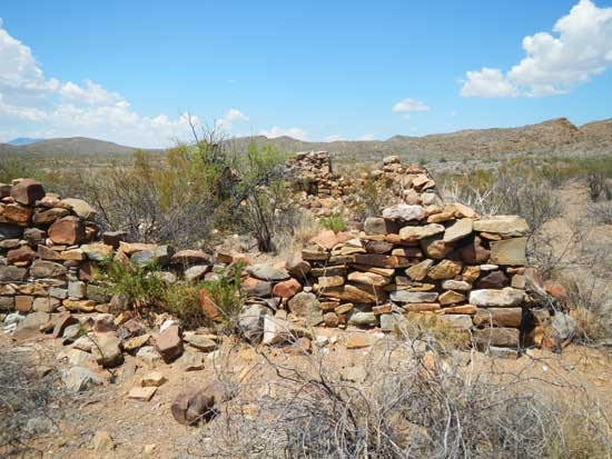 Remnants of an old homestead near Roy's Peak Campsite