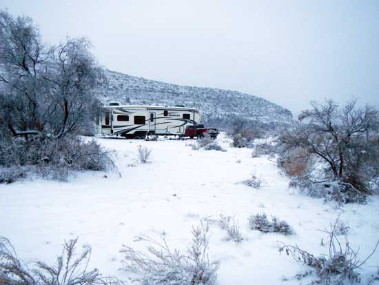 Boondocking Snow