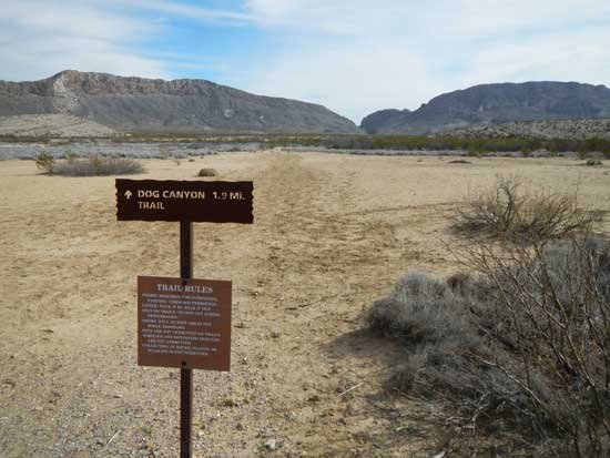 Dog Canyon Trail Marker