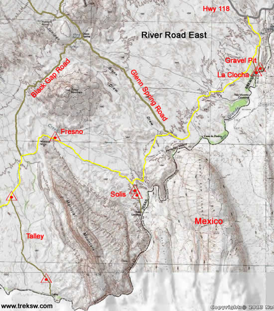 Backcountry Camping River Road East Big Bend Trek Southwest