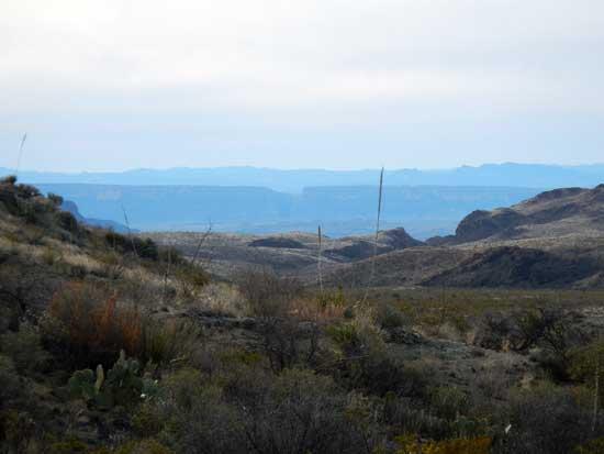 Santa Elena Canyon From Ward Spring Trail
