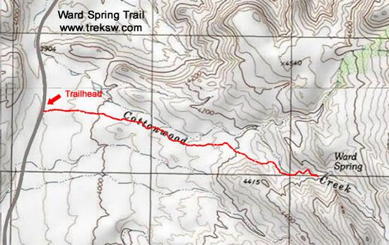 Ward Spring Trail Small Topo