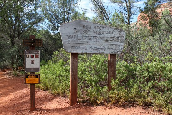 Coconino National Forest sign