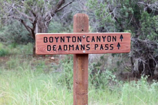 Boynton Canyon sign