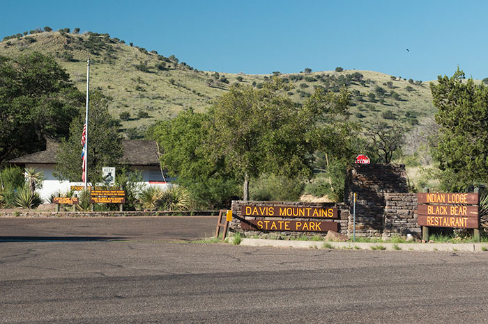 Davis Mountains State Park front entrance