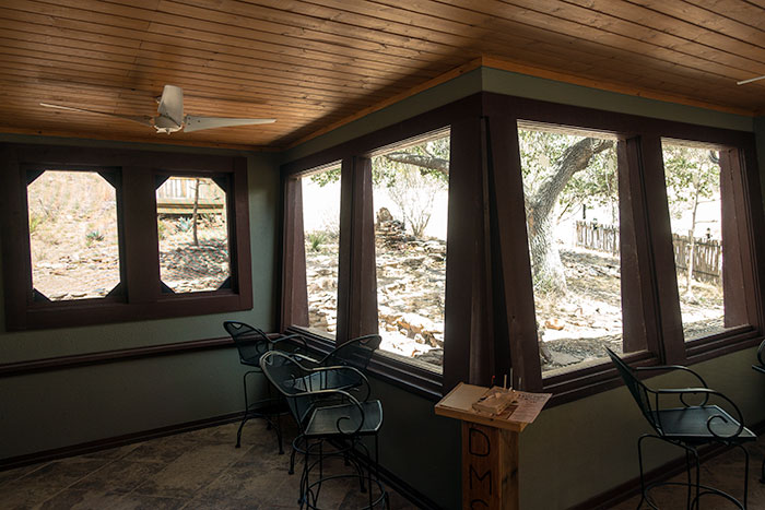 Inside the Bird Blind in Davis Mountains State Park