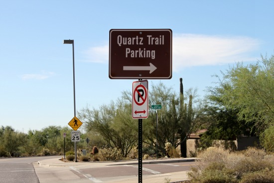 Quartz Trail Parking Lot