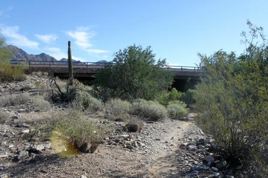 Go underneath the overpass