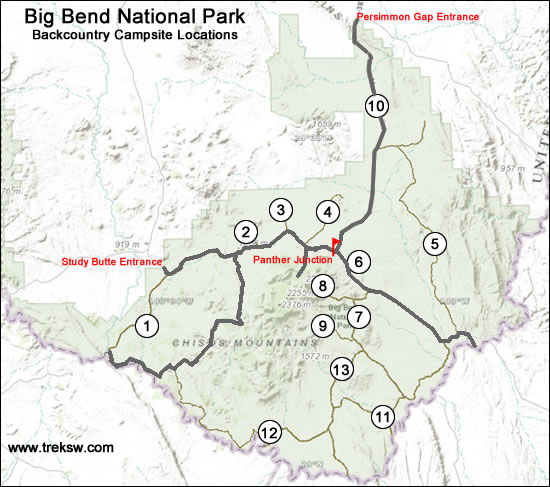 Backcountry Camping In Big Bend National Park The Complete Guide - Big bend national park map us