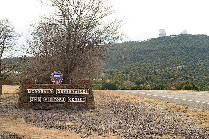 McDonald Observatory Entrance Sign