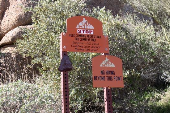Rock Climbing Sign