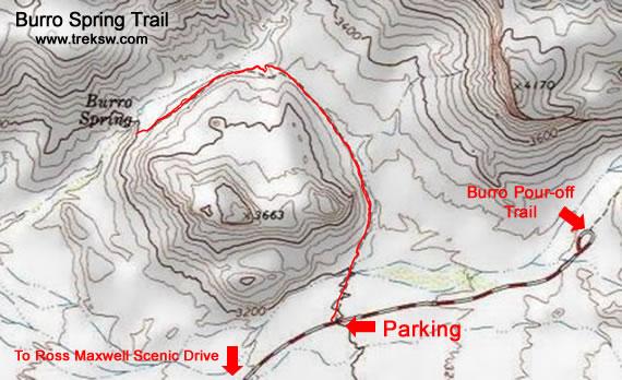 Burro Spring Trail Topo