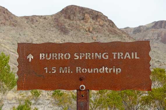Burro Spring Trail - Wrong
