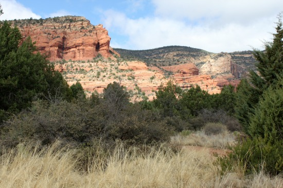 Red rocks in the distance