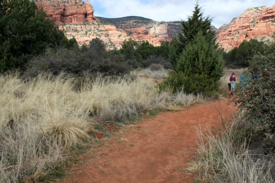Trail is fine red dirt