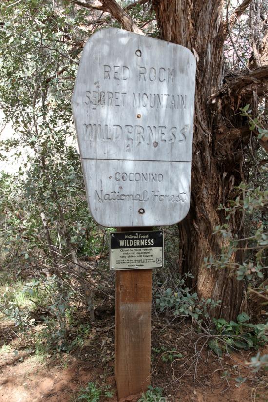 Red Rock/Secret Mountain Sign