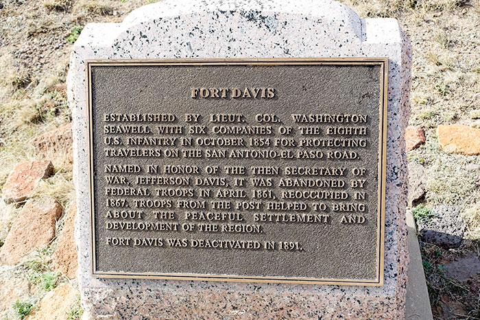 Fort Davis Historical Marker