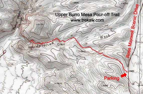 Upper Burro Mesa Pour-off Trail