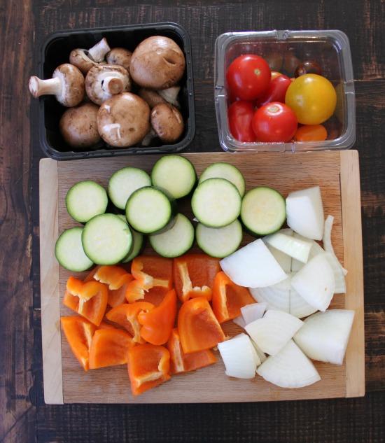 Kebab veggies