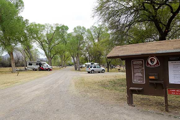 Cottonwood Campground From the Entrance