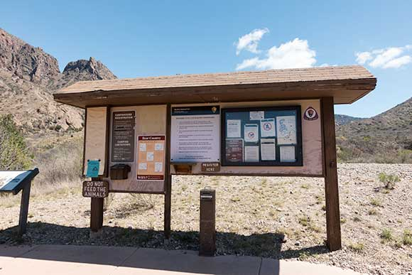 Chisos Basin Campground Registration