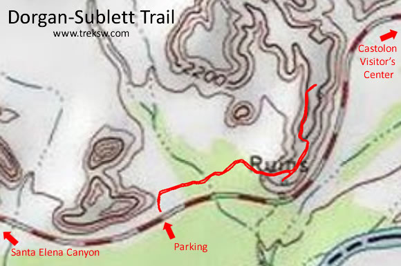 Dorgan-Sublett Trail Topo Map