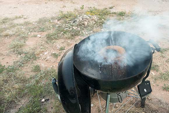 Swedish Torch blowing out in the West Texas Wind
