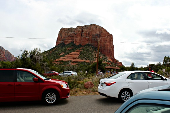 Courthouse Butte northern parking lot