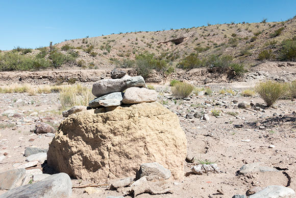 Rock cairn on Tuff Canyon Trail
