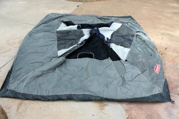 Tent Laid Flat