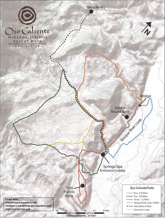 Ojo Caliente Trail Map