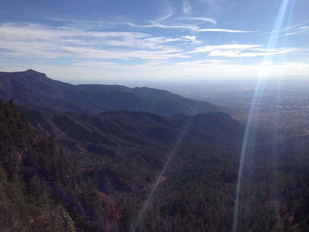 Sandia Crest western vista