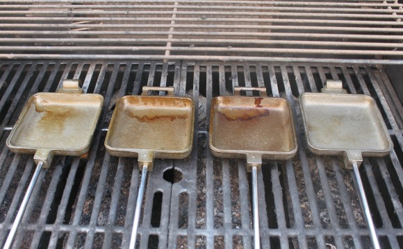 Campfire Grilled Cheese - 1st Layer of Seasoning