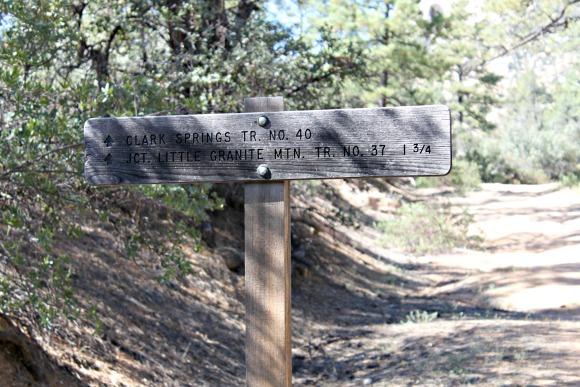 Granite Basin Recreation Area - Wrong Sign