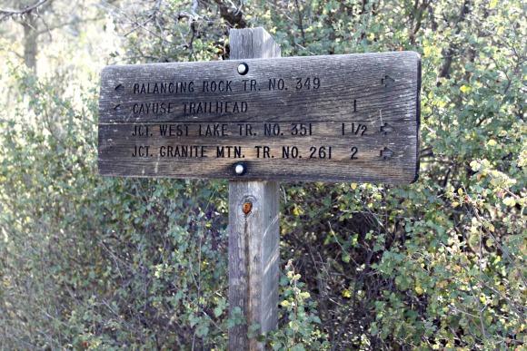Granite Basin Recreation Area - Trail Sign