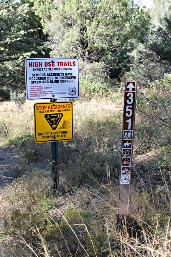 Granite Basin Recreation Area - Trail Sign