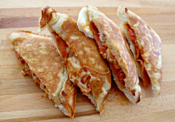 Pizza Pocket - Pie Iron Recipe