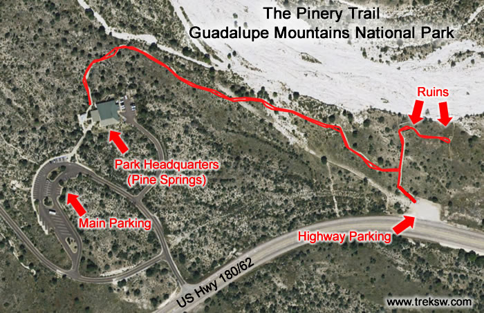 The Pinery Trail - Map