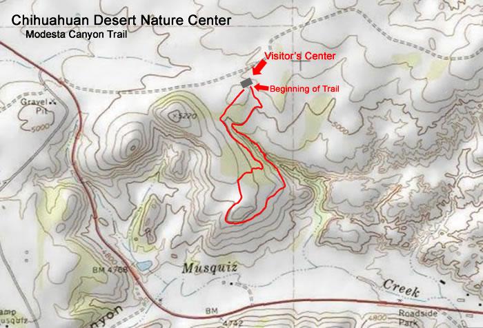 Modesta Canyon Trail Topo