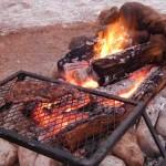 Cooking Campfire Fajitas