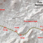 Pine Canyon Campsites Small Topo
